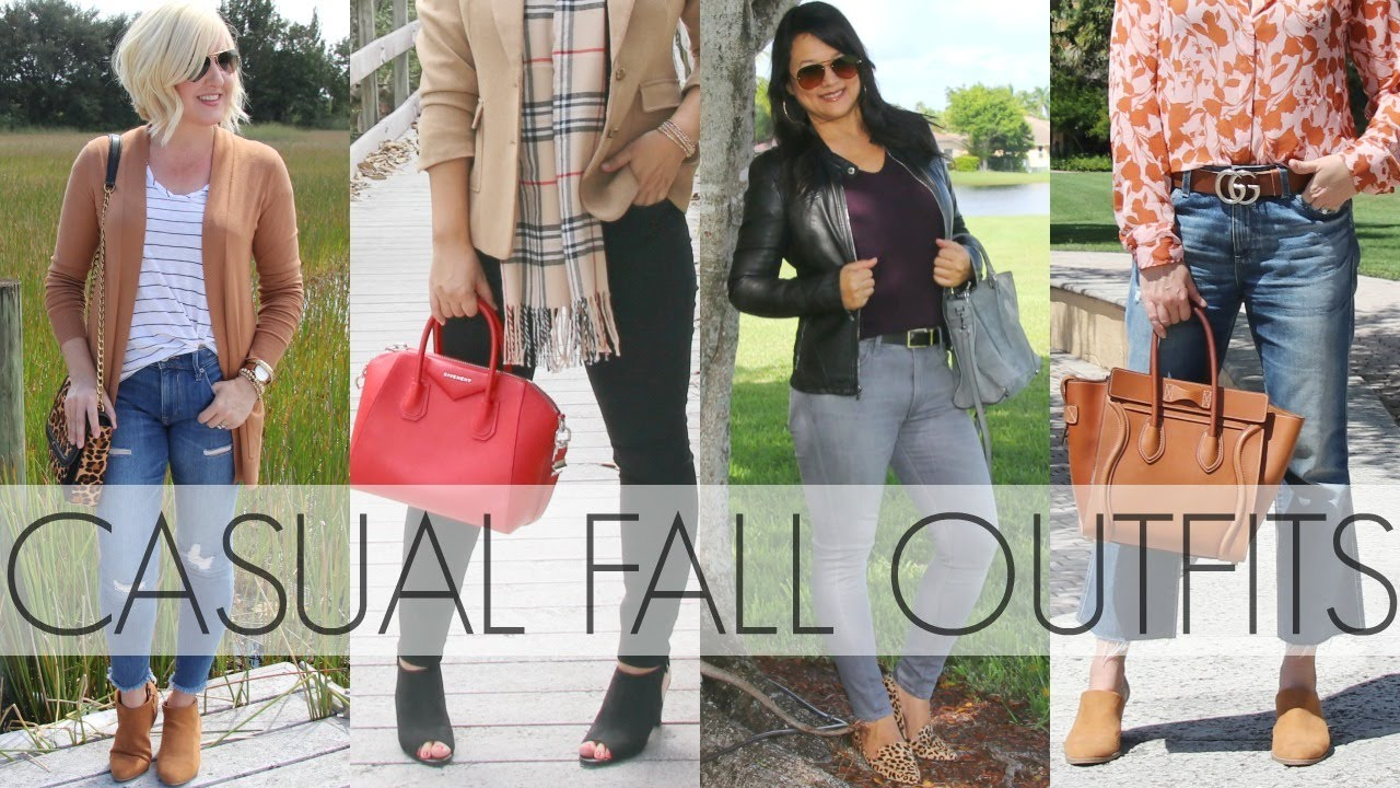 [VIDEO] - 10 Casual Fall Outfits with Jeans | Jeans Lookbook | What I Wore 5