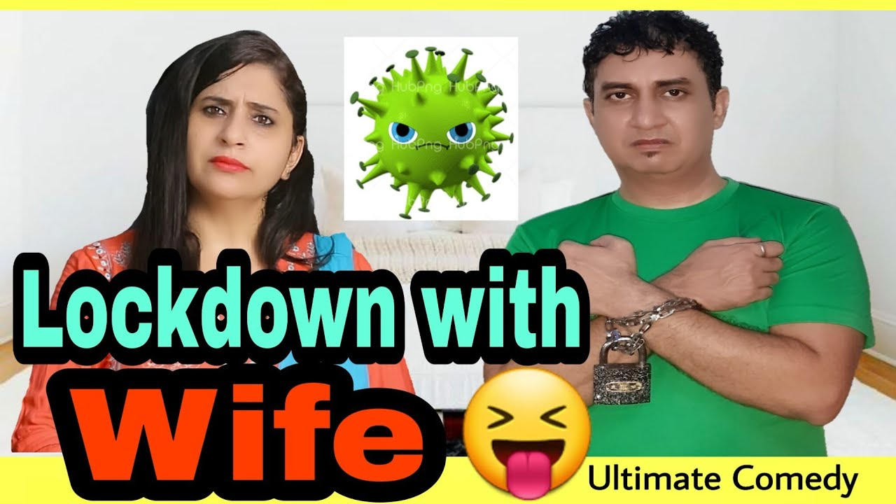 Lockdown with Wife | husband wife lockdown| husband wife comedy | Comedy in hindi |golgappa jokes
