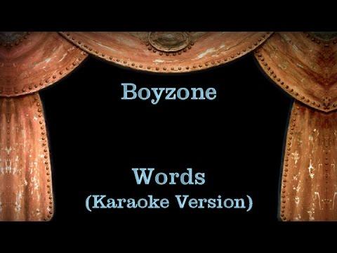 Boyzone - Words - Lyrics (Karaoke Version)