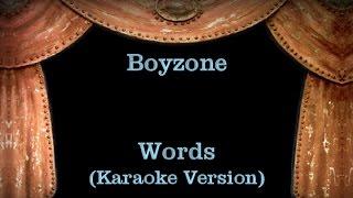 Boyzone Words Lyrics Karaoke Version