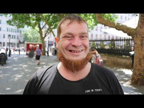 Simon is homeless sleeping rough in Central London