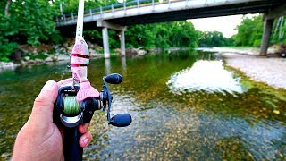 ULTRA CLEAR Creek Fishing for Bass -- Fly Rod vs. Conventional Tackle