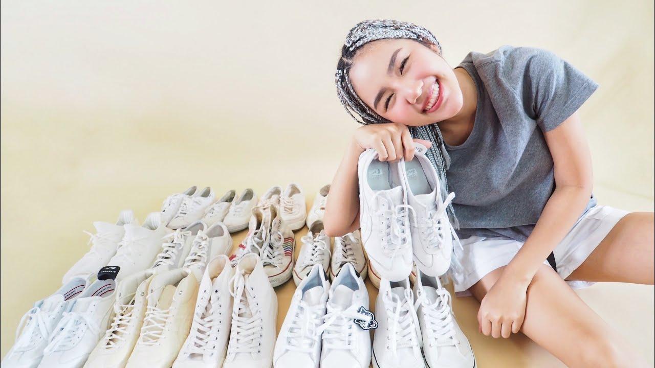 เปิดกรุรองเท้าผ้าใบสีขาว16คู่ | Archita Lifestyle