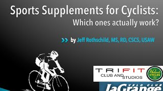 Supplements for cyclists part 1