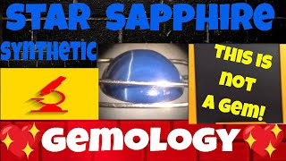 Zaffiro Stellato Sintetico. Gemmologia - Synthetic Star Sapphire 13