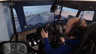 American Truck Simulator single player with mods E2 wheel cam