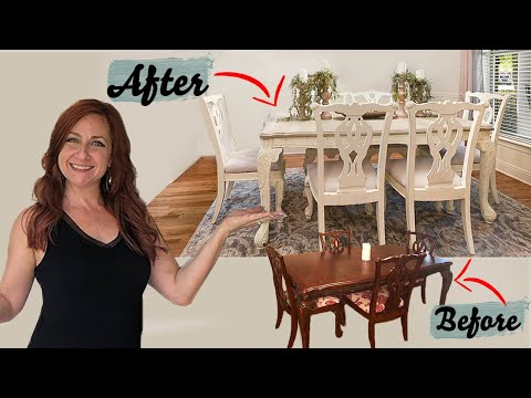 How To Chalk Paint -- *Easy DIY* Dining Table Tutorial (For Beginners)