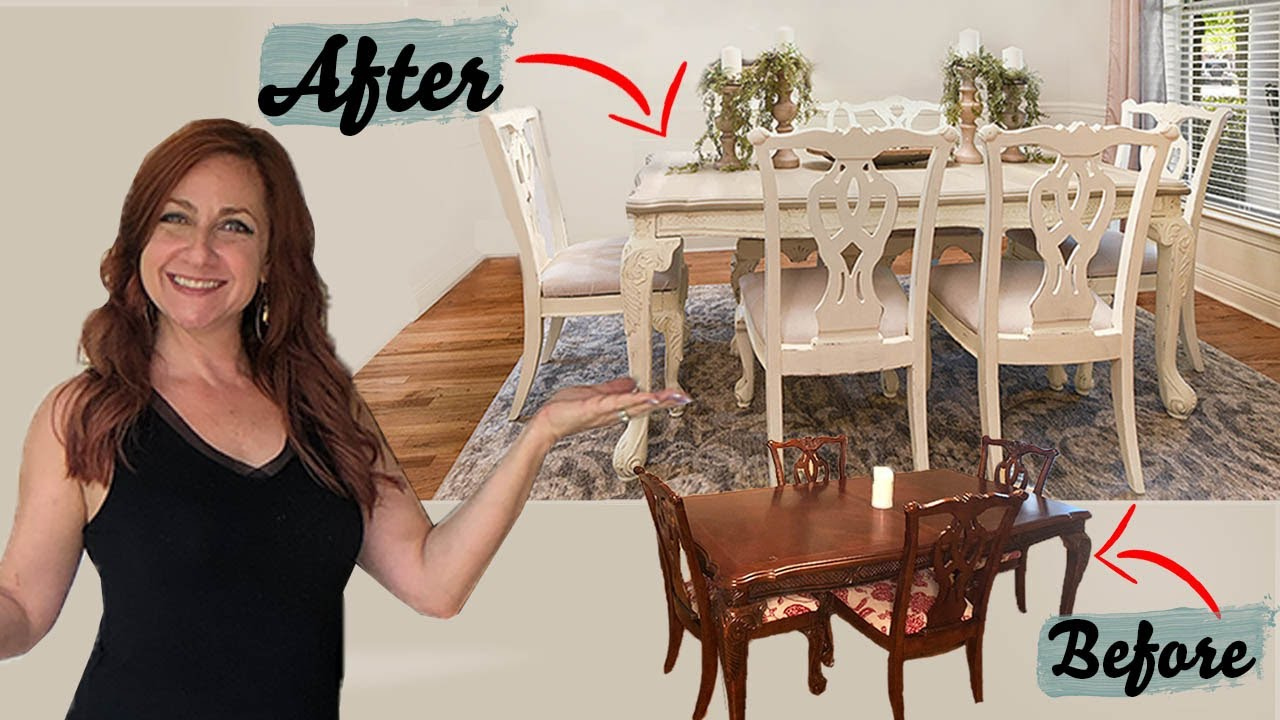 How To Chalk Paint    Easy DIY Dining Table Tutorial For Beginners