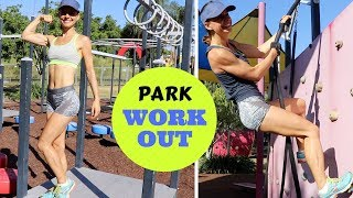 My Park Workout Routine | Calisthenics + Resistance Bands | NO Gym