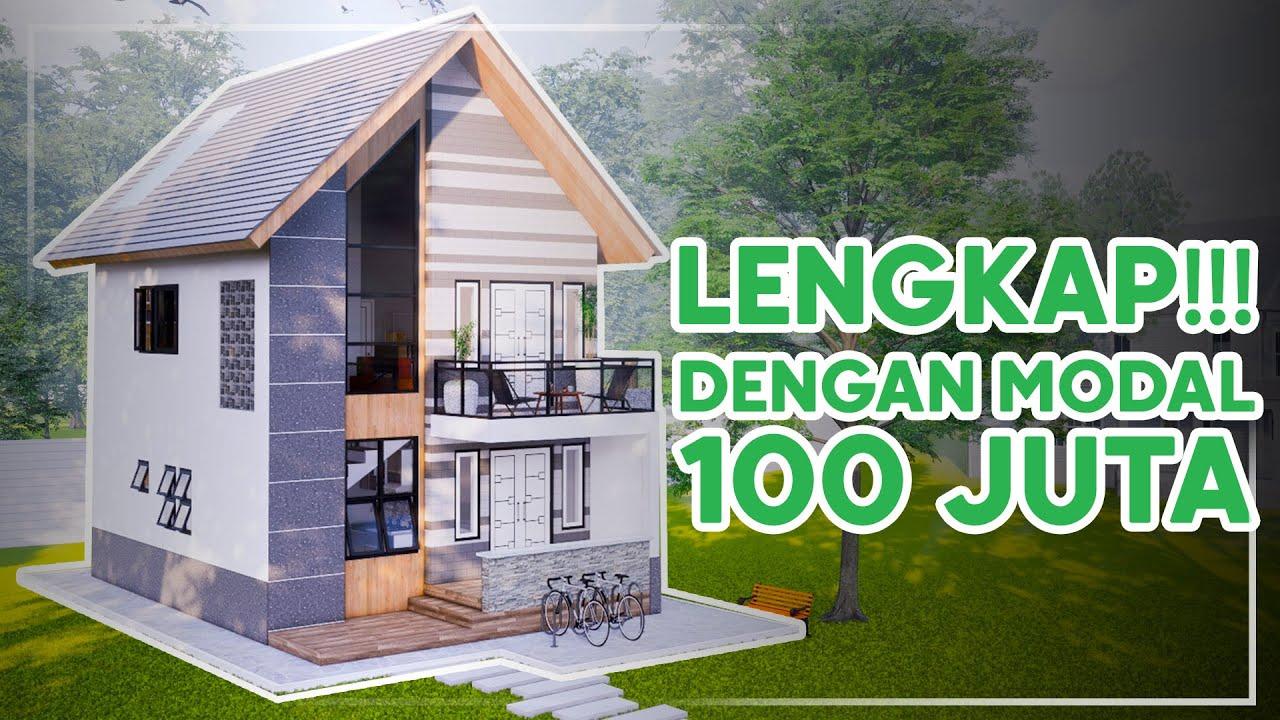 Bikin Rumah Modal 200 Juta Desain Rumah Minimalis 2 Lantai 2 Kamar Tidur Youtube