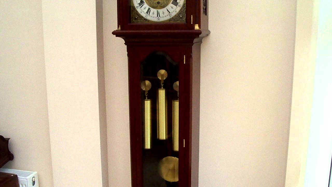 URGOS TRIPLE CHIME LONGCASE GRANDFATHER CLOCK ...