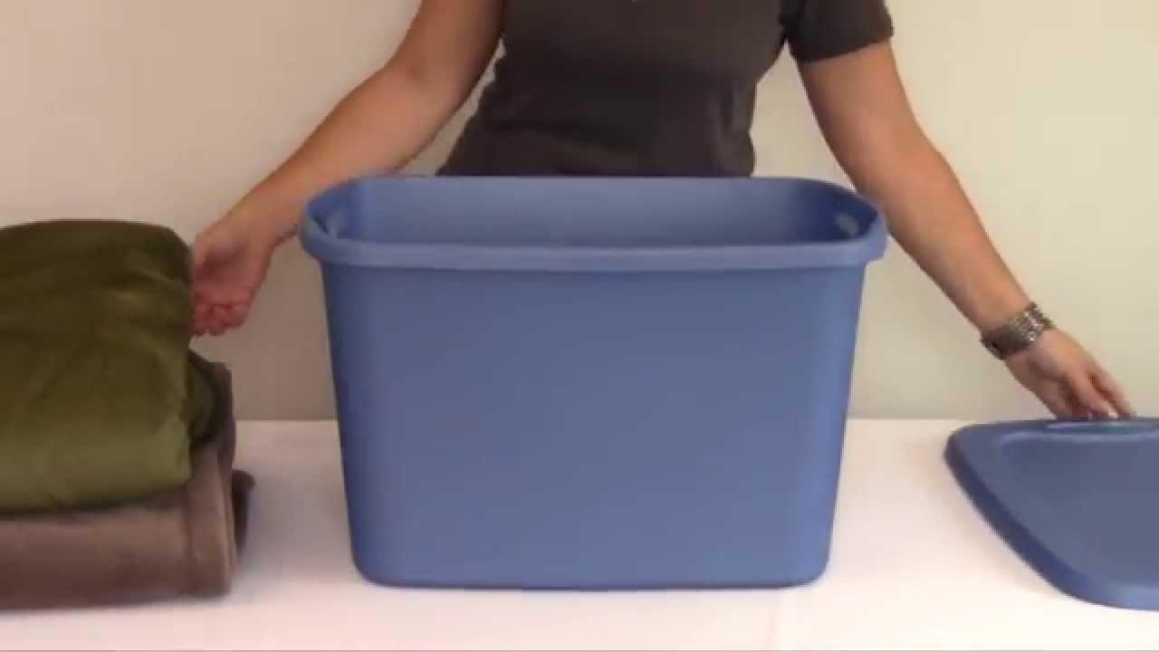 Sterilite Blue 10 Gallon Tote Box Youtube