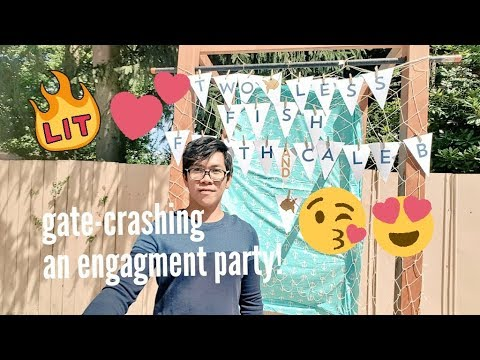 COOLEST ENGAGEMENT PARTY EVER! TWO LESS FISH IN THE SEA! (VLOG 34)