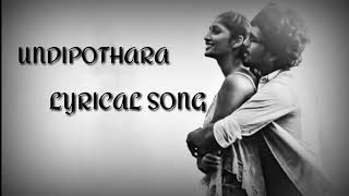 Undipothara song female version
