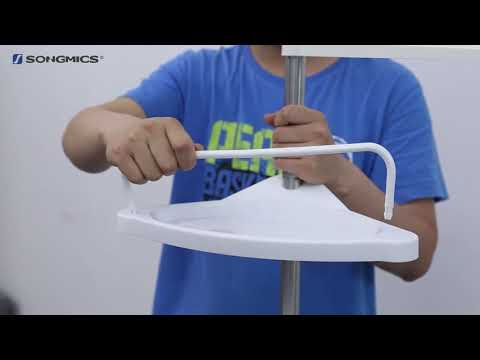 Songmics Adjustable Bathroom Corner Shelf Shower Rack Bcb002 Uk Youtube