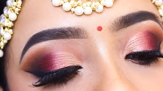 BRIDAL EYE MAKEUP TUTORIAL || Step by step detailed eyeshadow for beginners || Shilpa