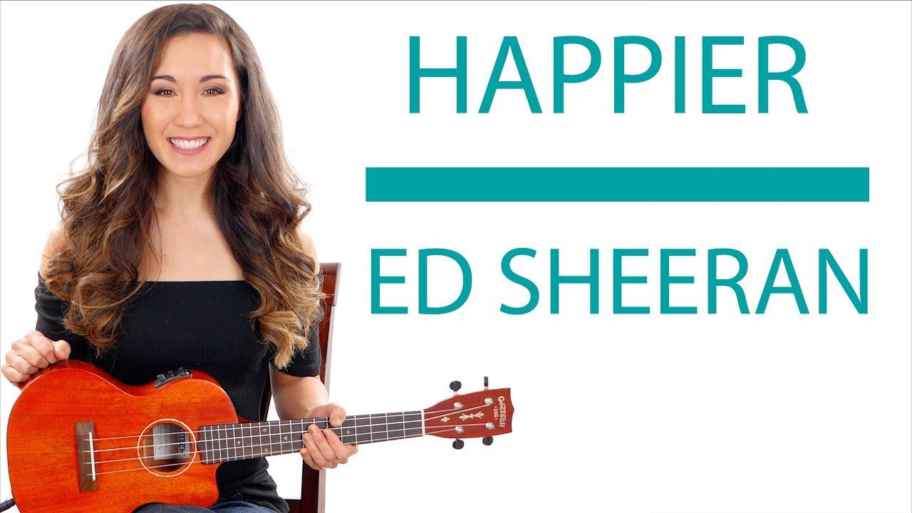 Happier Ed Sheeran Ukulele Tutoriallesson With Fingerpicking And