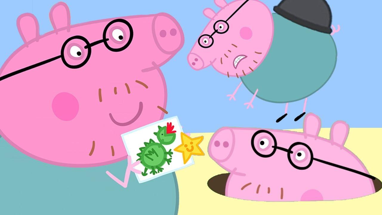 Peppa Pig in Hindi - Daddy Pig Loses Weight - Clips - हिंदी Kahaniya - Hindi Cartoons for Kids