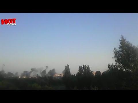 Красный Луч: Авиа удар по блок посту 30.07.2014