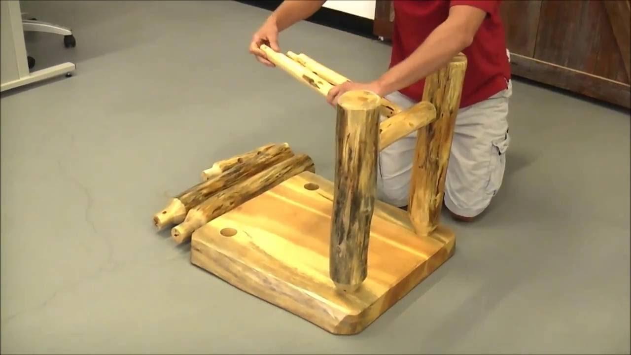 easy diy log furniture tools