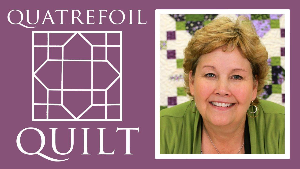 The quatrefoil quilt easy quilting tutorial with jenny doan of the quatrefoil quilt easy quilting tutorial with jenny doan of missouri star quilt co youtube baditri Images
