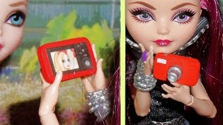 How to make a miniature doll camera - miniature crafts DIY