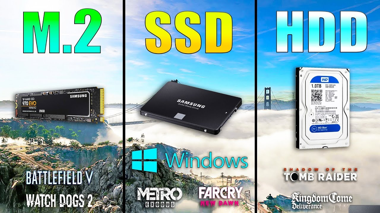 M 2 NVME vs SSD vs HDD Loading Windows and Games