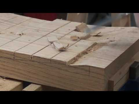 Carving out a stool seat by hand-part 1