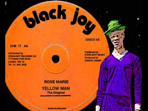 """Yellowman The Original (Purpleman) - Rose Marie 12"""" (B)  1982 Mixed By The Scientist"""