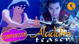 Aladdin Teaser Trailer vs Original Animated Movie