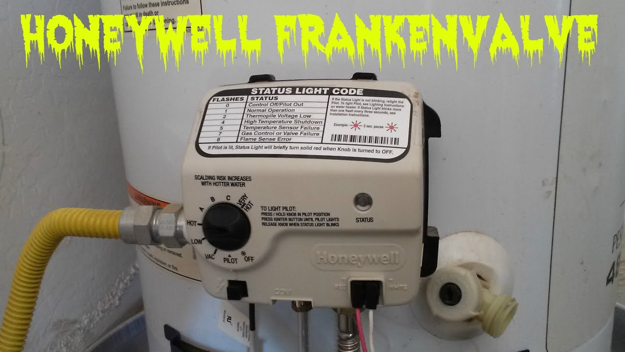 Water Heater Pilot Light Keeps Going Out Honeywell Valve YouTube