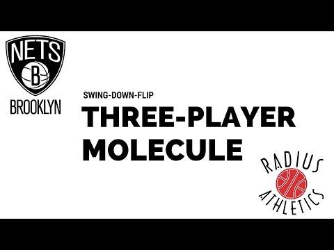 Brooklyn Nets - Swing-Down-Flip Three-Player Molecule