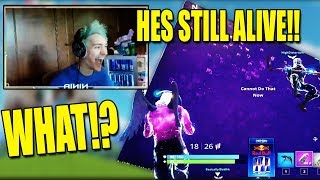 NINJA REACTS TO CEEZ GETTING CRUSHED BY THE CUBE! - Fortnite