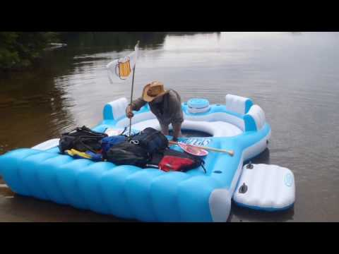 ManCamping.ca - The Famous Inflatable Floating Island Raft Trip