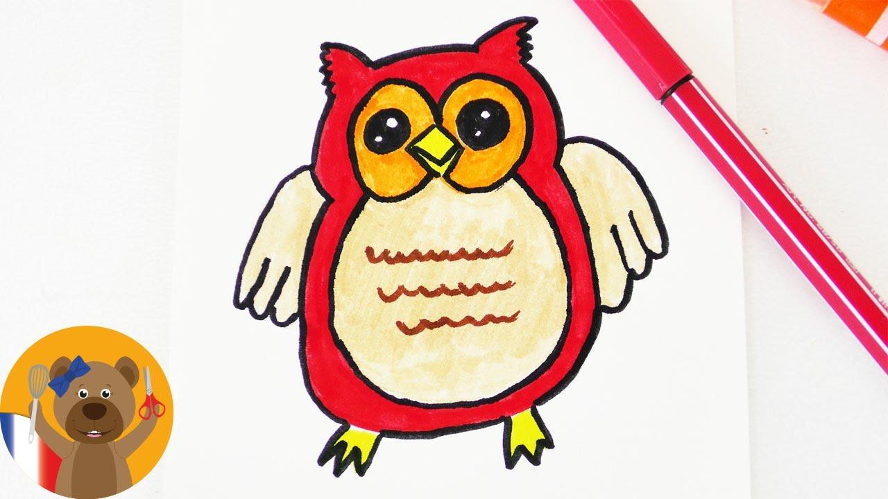 Dessiner une chouette kawaii diy d co d 39 automne pour des cartes d 39 anniversaire ou des - Chouette a dessiner ...