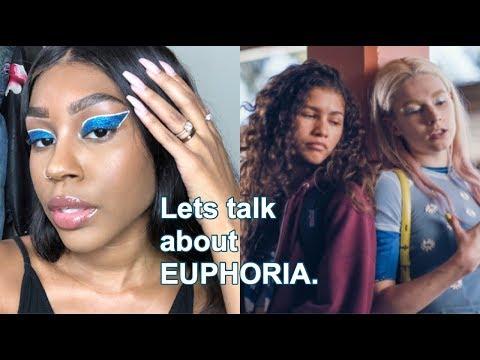 Euphoria inspired makeup while we talk about Euphoria thumbnail