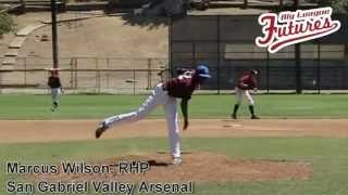 MARCUS WILSON, RHP, SAN GABRIEL VALLEY ARSENAL, PITCHING MECHANICS AT 200 FPS @SGVARSENAL
