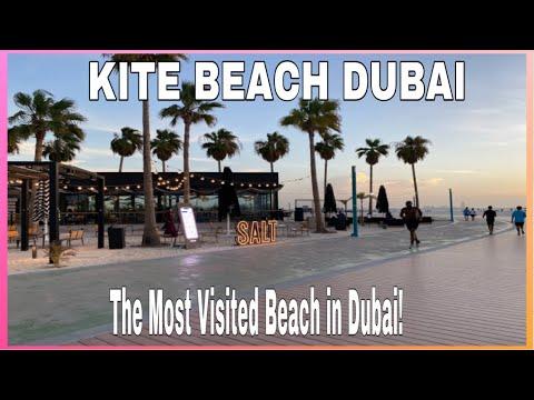KITE BEACH Dubai/ The Most visited beach in Dubai/Strolling at Kite Beach