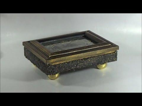 DIY cigar box decoration (decofoam)/Διακοσμώ κουτί πούρων