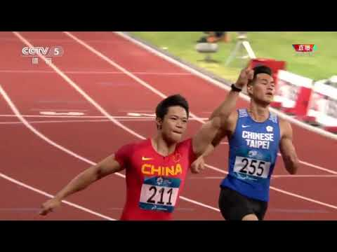 Su Bingtian breaks Asian games record with 9.92s - Asian Games 2018 100m Final