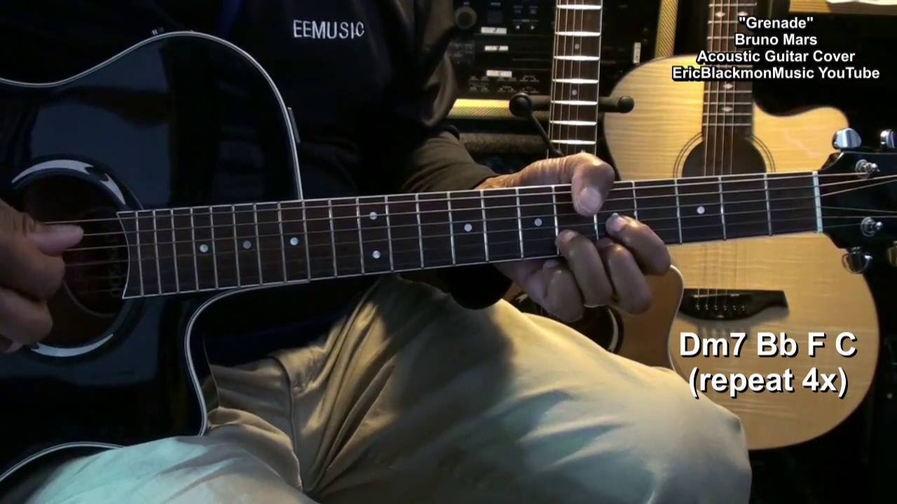 Bruno Mars Grenade Acoustic Fingerstyle Guitar Cover Play Along With