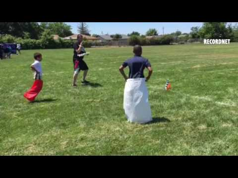 VIDEO: Nightingale charter students enjoy carnival activities like sack races as reward for winning