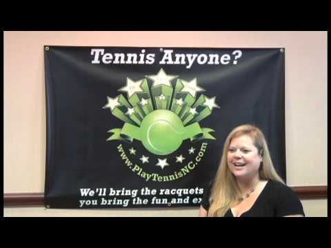 PlayTennisNC: Trying Tennis for the First Time