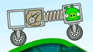 Bad Piggies #4 Плохие свинки мультик игра про машинки с мультяшными героями #МАШИНКИКИДА