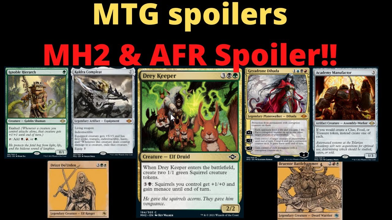 Mtg Spoilers Mordern Horizons 2 And Adventures In The Forgotten Realms Spoiler Magic The Gathering Youtube