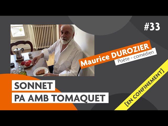 Les sonnets du comédien Maurice Durozier : Tomaquet