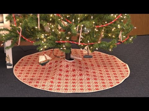 Christmas Tree Skirt Patterns.How To Make A Christmas Tree Skirt Youtube
