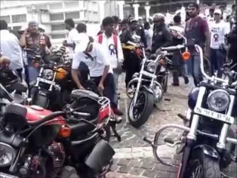 harley davidson bike rally @srm university - youtube