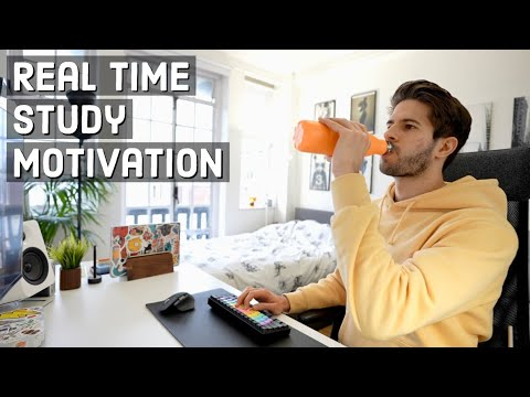 Download REAL TIME study with me (no music): 6 HOUR Productive Pomodoro Session   KharmaMedic
