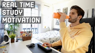 REAL TIME study with me (no music): 6 HOUR Productive Pomodoro Session | KharmaMedic